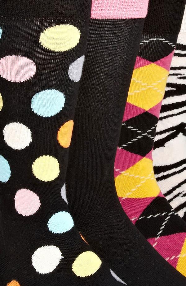 Alternate Image 2  - Happy Socks Cotton Blend Sock Set (4-Pack)