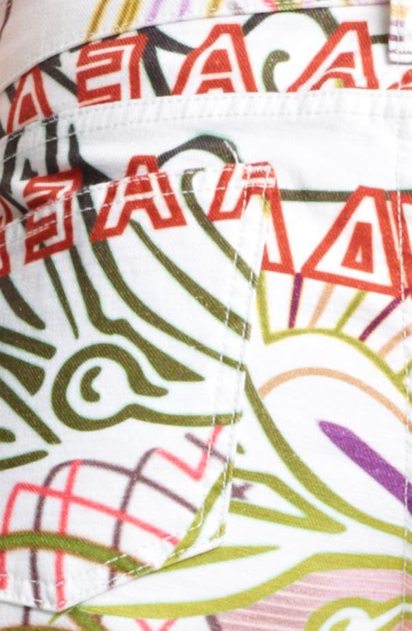 Alternate Image 3  - Mary Katrantzou Print Cigarette Leg Crop Jeans