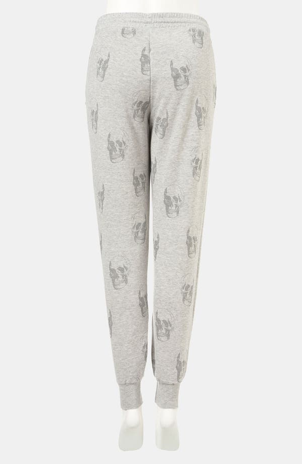 Alternate Image 2  - Topshop Skull Print Tapered Sweatpants