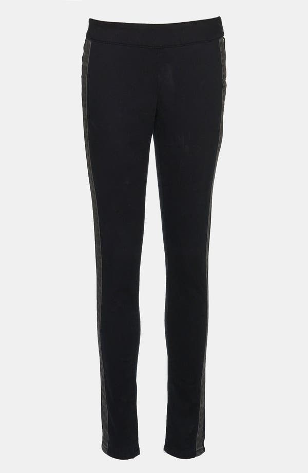 Main Image - Leith Tux Stripe Skinny Pants