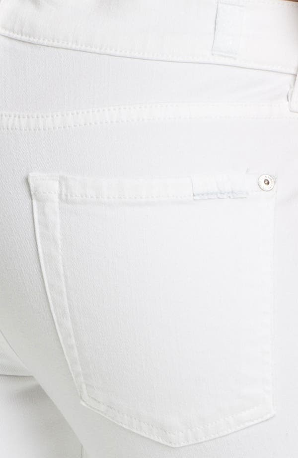 Alternate Image 3  - 7 For All Mankind® 'Slim Illusion' Overdyed Skinny Stretch Jeans (Stark White)