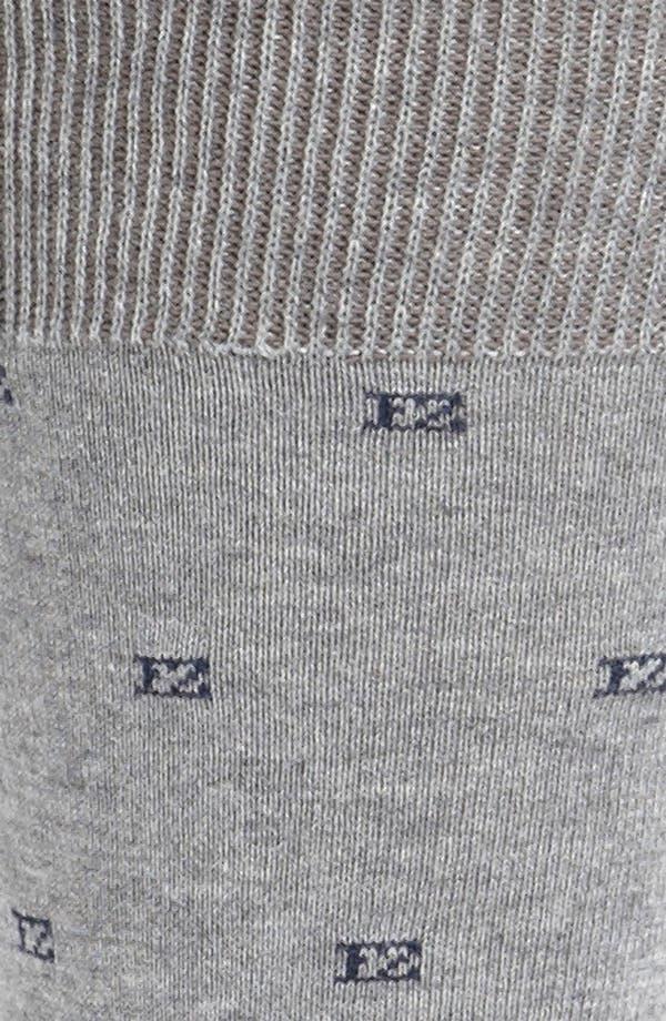 Alternate Image 2  - Ermenegildo Zegna Logo Socks