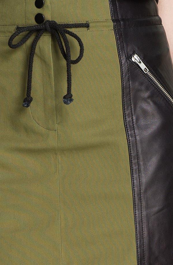 Alternate Image 5  - Cut25 Leather Panel Cotton Skirt