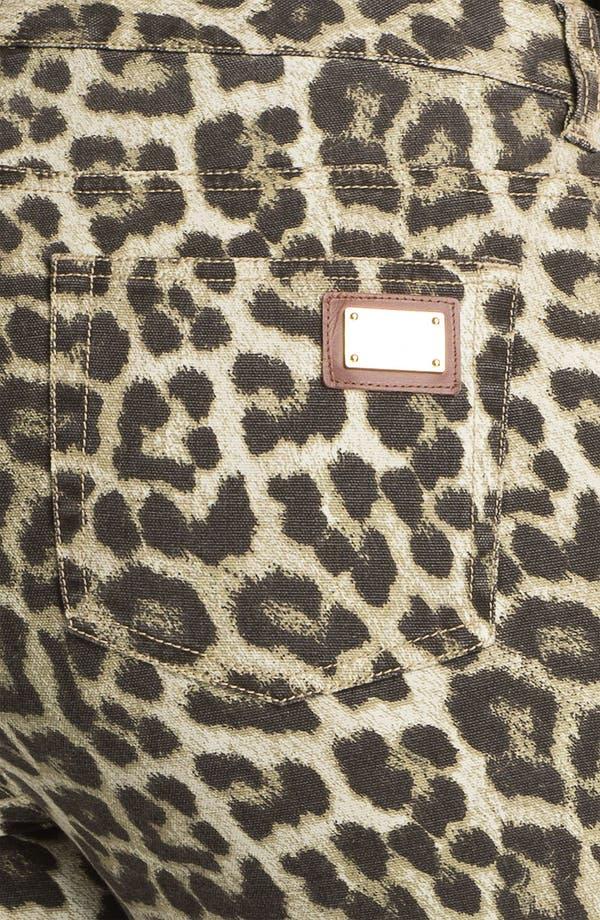 Alternate Image 3  - MICHAEL Michael Kors 'Savannah' Leopard Print Skinny Jeans (Plus)