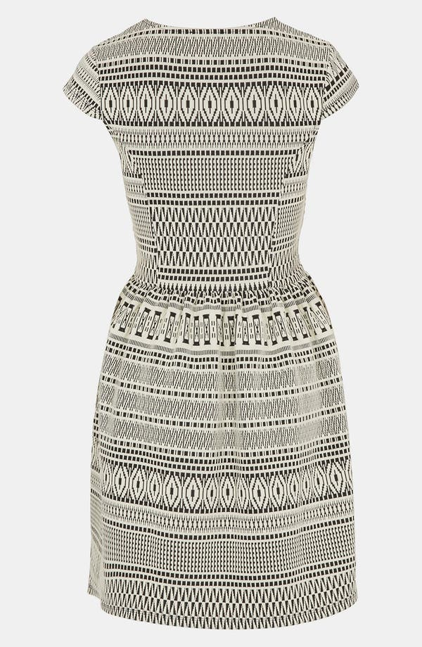Alternate Image 2  - Topshop Tribal Jacquard Skater Dress