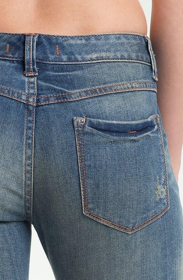 Alternate Image 3  - Free People Destroyed Stretch Skinny Jeans (Engineer)