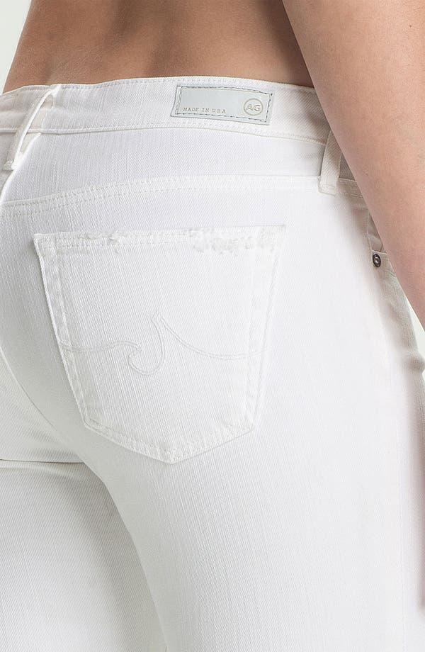Alternate Image 3  - AG Jeans Skinny Ankle Jeans (White Thrasher)