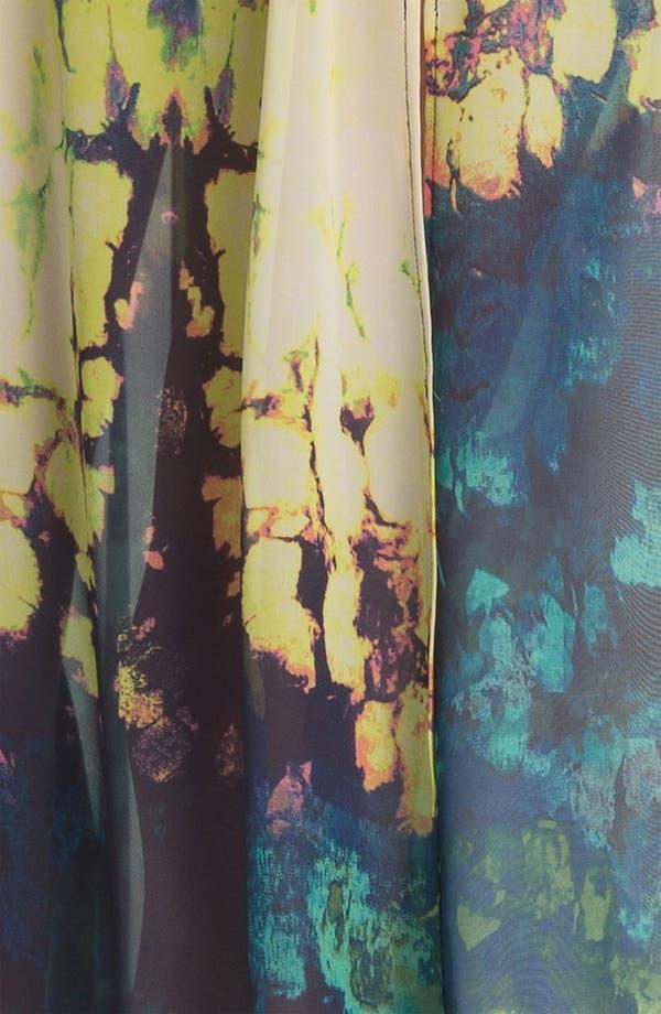 Alternate Image 3  - Fire Strapless Print Chiffon Maxi Dress (Juniors)
