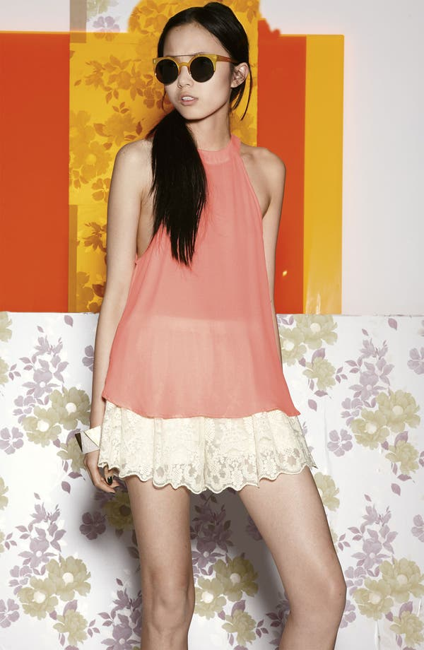 Alternate Image 1 Selected - ASTR Top & Lace Shorts