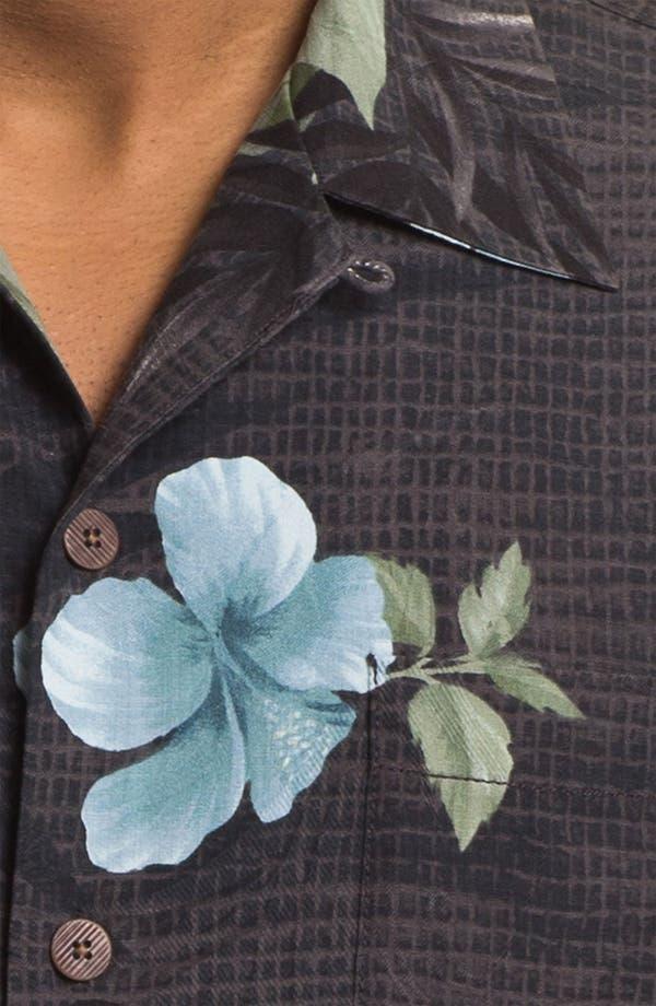Alternate Image 3  - Tommy Bahama 'Tropical Mosaic' Silk Campshirt (Big & Tall)