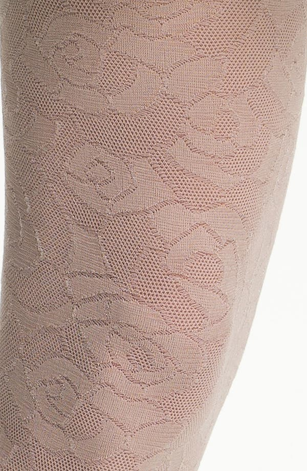 Alternate Image 2  - DKNY Laser Cut Lace Tights