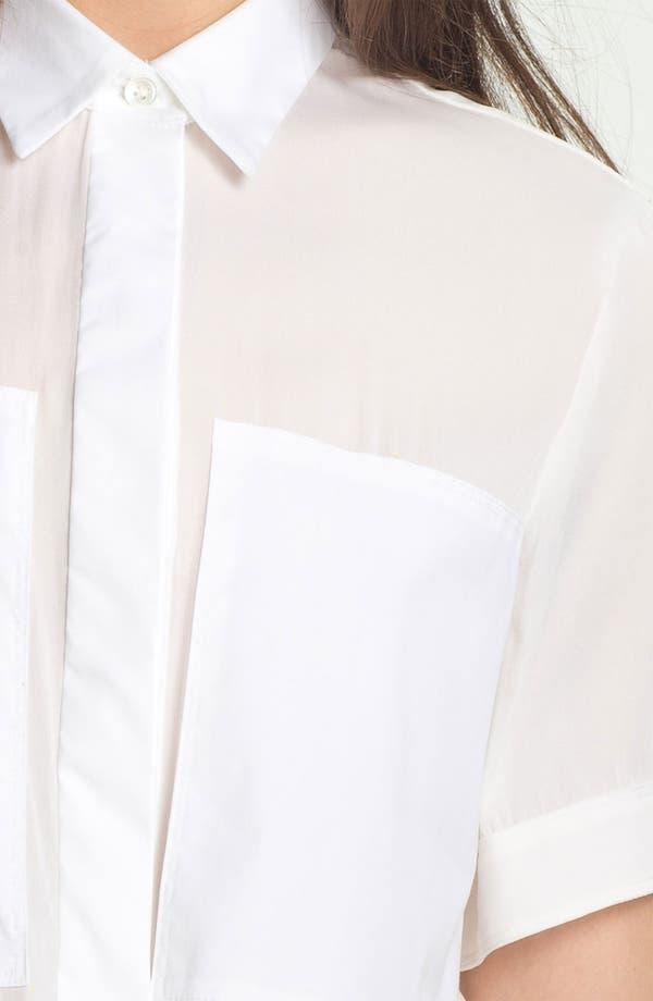 Alternate Image 3  - Theory 'Ebele C.' Crop Shirt