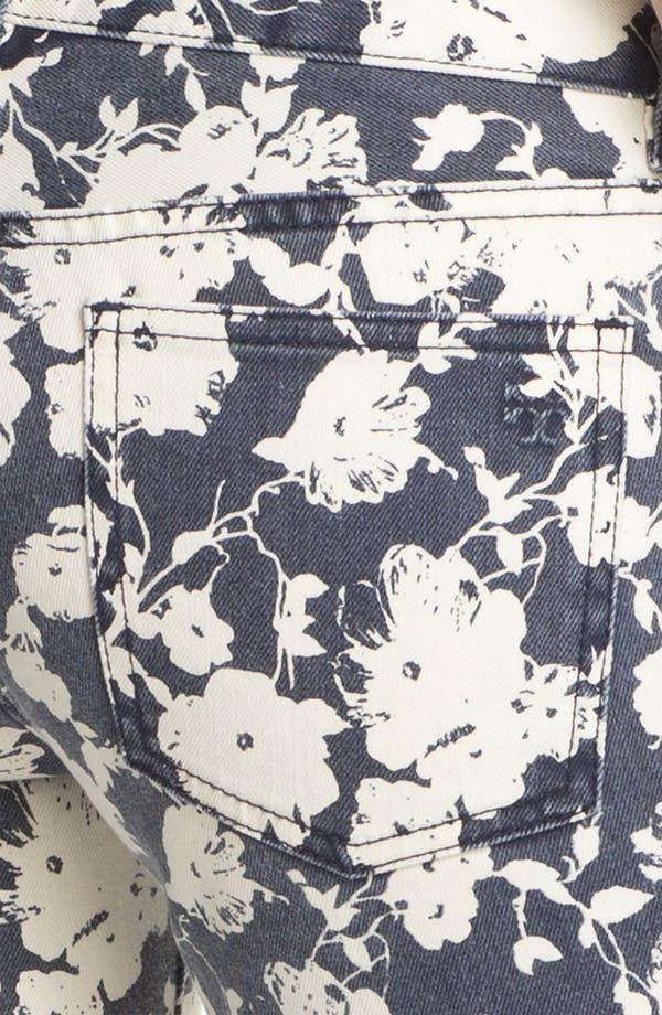 Alternate Image 3  - Tory Burch 'Alexa' Print Skinny Jeans (Tory Navy Abbott)