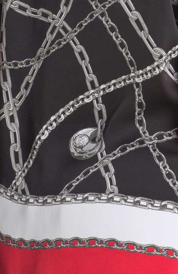 Alternate Image 3  - MICHAEL Michael Kors Chain Print Flutter Tunic (Plus)