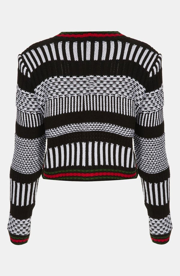 Alternate Image 2  - Topshop Graphic Knit Crop Sweater