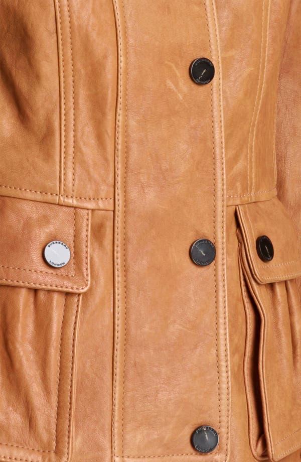 Alternate Image 3  - Burberry London Leather Jacket