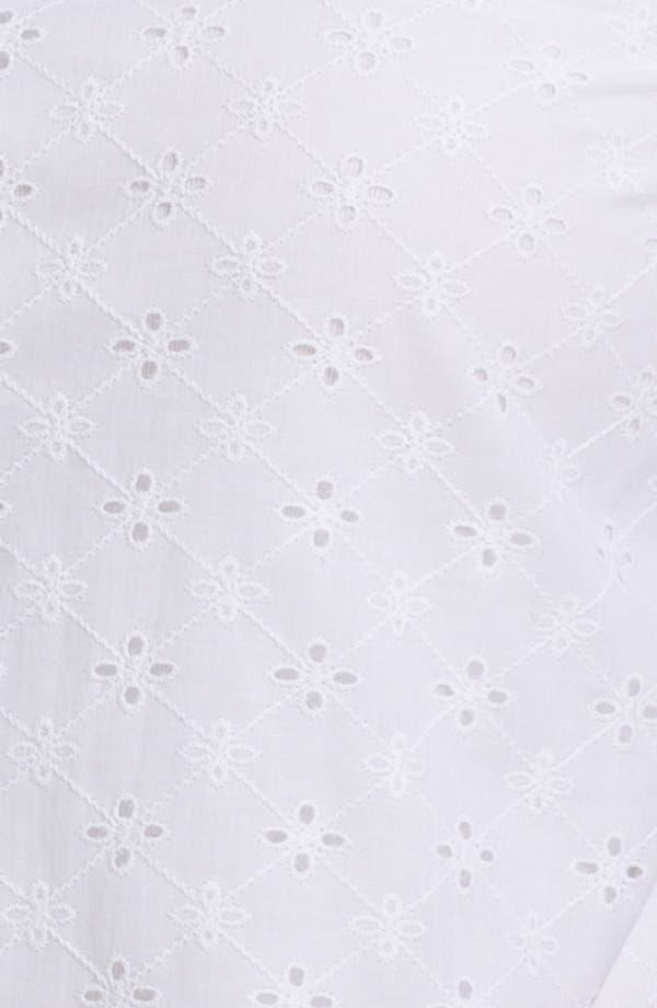 Alternate Image 3  - Foxcroft Three Quarter Sleeve Eyelet Shirt (Plus)