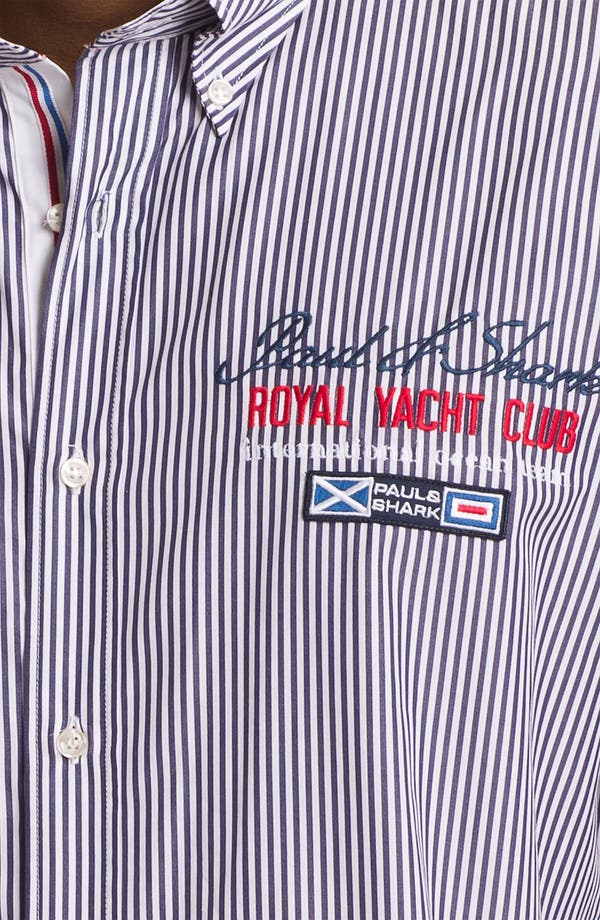 Alternate Image 3  - Paul & Shark Pinstripe Sport Shirt