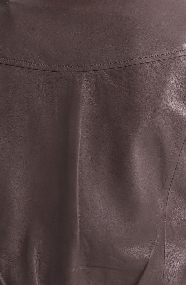 Alternate Image 3  - Trouvé Pleat Detail Leather Jacket