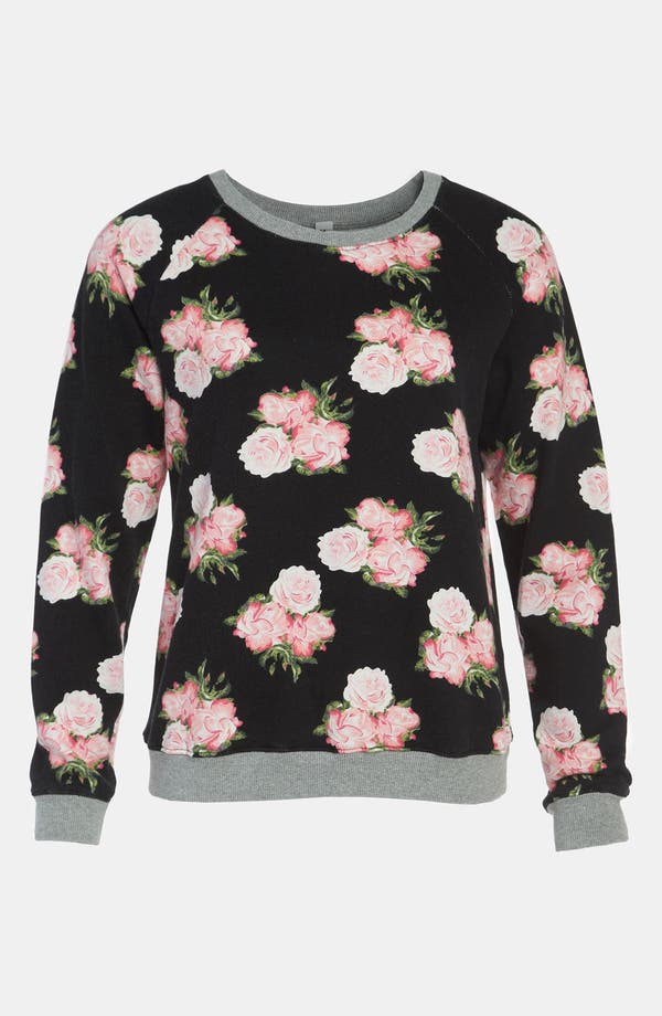 Alternate Image 1 Selected - Mural Floral Sweatshirt