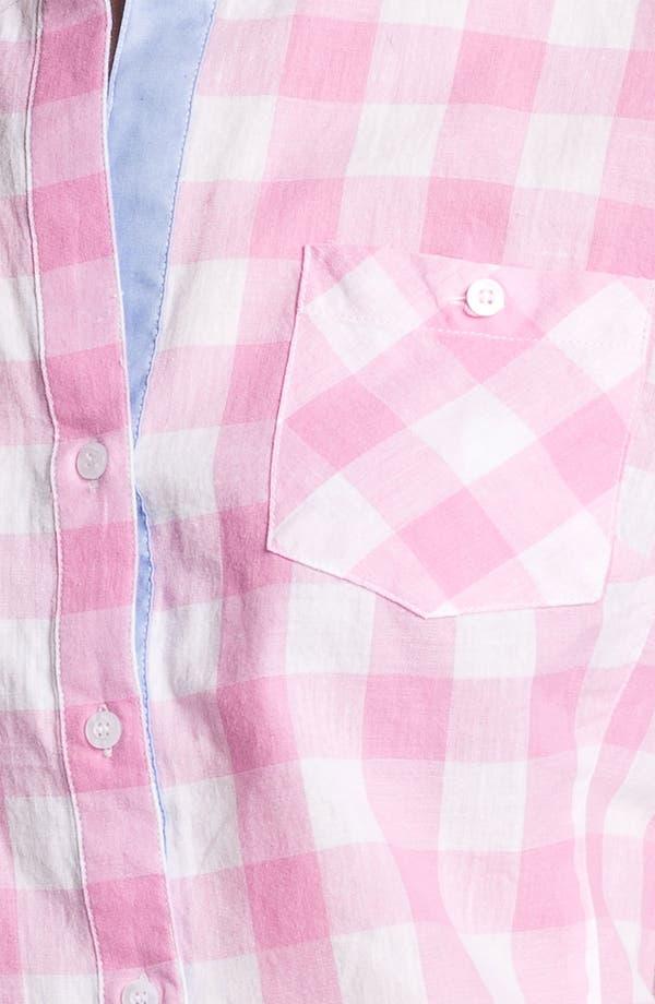 Alternate Image 3  - Sandra Ingrish Roll Sleeve Check Shirt (Petite)