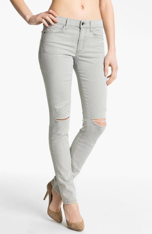 Alternate Image 1 Selected - Joe's 'Cigarette' Straight Leg Stretch Jeans (Light Grey)