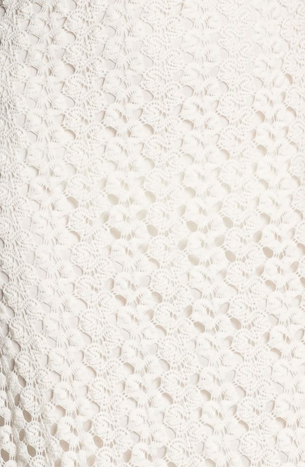 Alternate Image 3  - Mimi Chica Half Sheer Crochet Maxi Dress (Juniors)