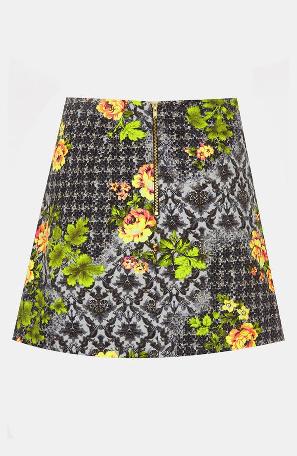 Alternate Image 2  - Topshop 'Acid Leaf' A-Line Skirt