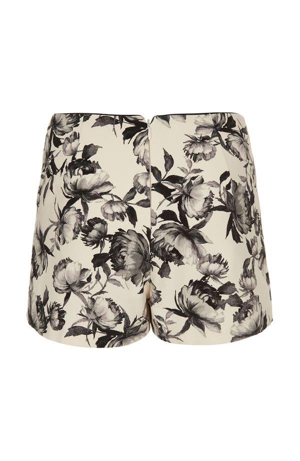 Alternate Image 2  - Topshop 'Mono Floral' Print Shorts