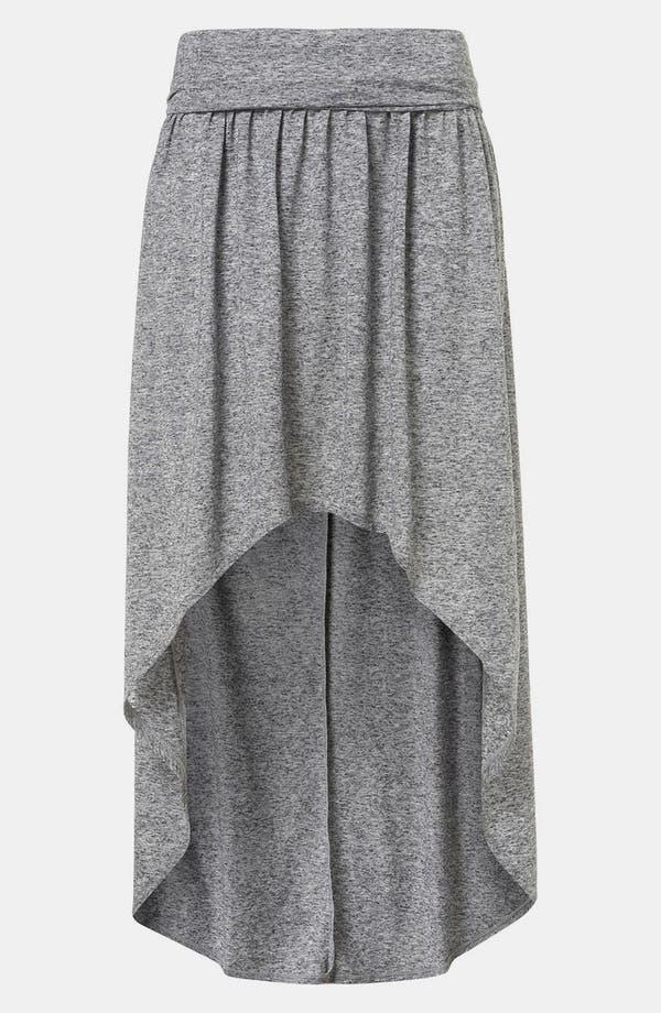Main Image - Topshop Foldover High/Low Maxi Skirt
