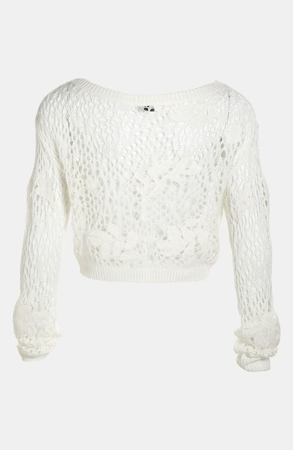 Alternate Image 3  - Leith 'Grunge' Open Crochet Pullover