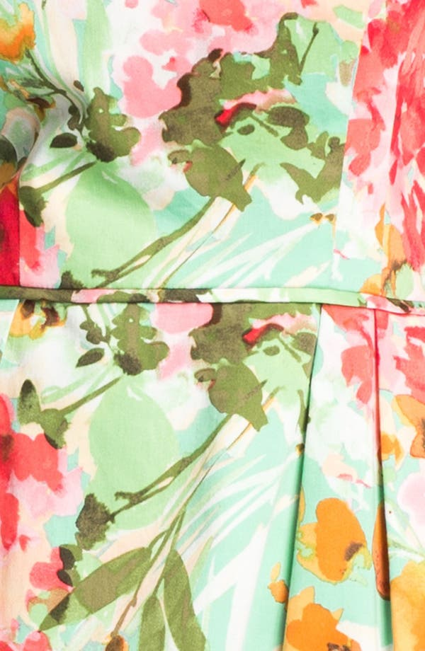Alternate Image 3  - Donna Ricco Floral Print Fit & Flare Dress