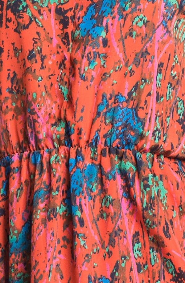 Alternate Image 3  - Collective Concepts Print Gathered Slip Dress