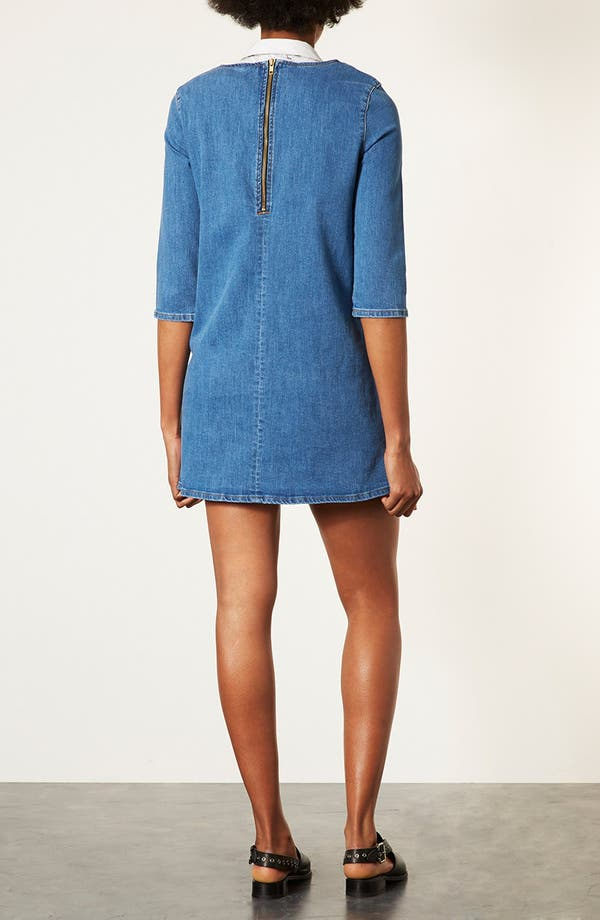 Alternate Image 2  - Topshop Denim Tunic Dress