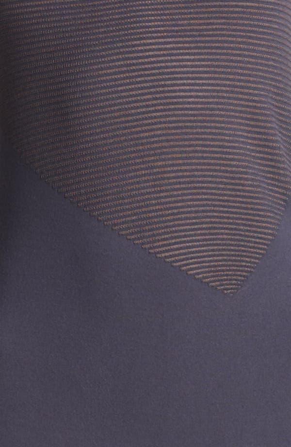 Alternate Image 3  - Armani Collezioni Microstripe Jersey Dress