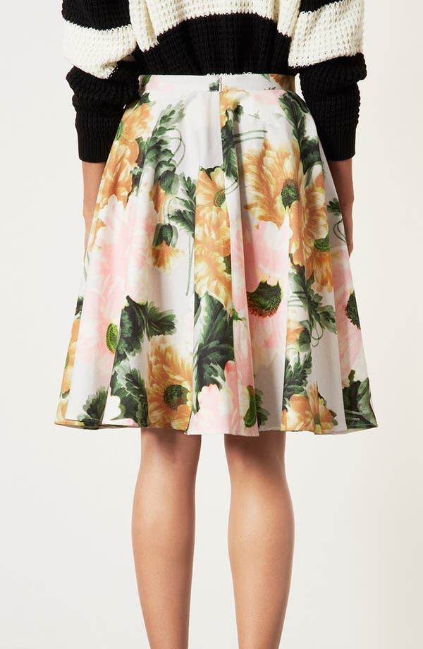 Alternate Image 2  - Topshop 'Modern Flower' Skirt