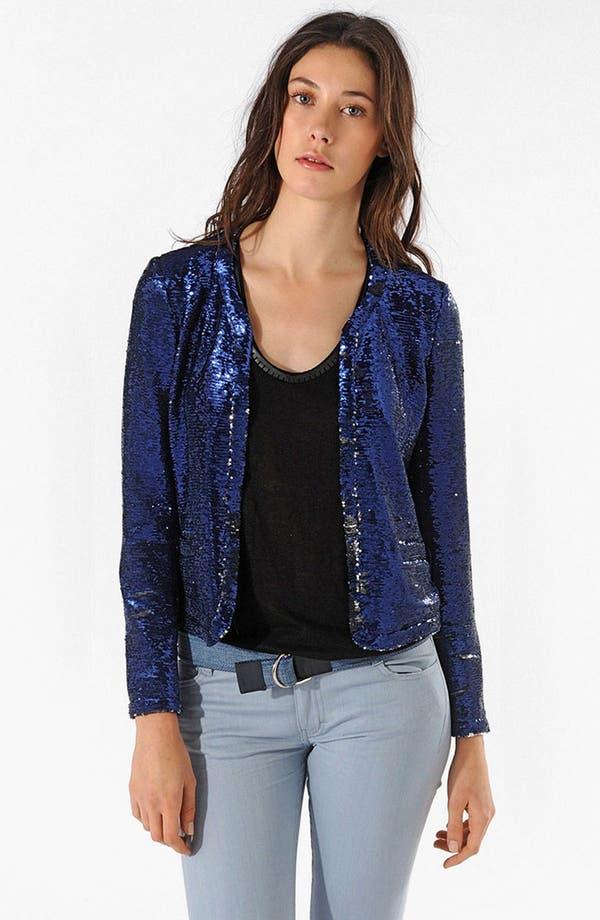 Main Image - maje 'Apte' Open Sequin Blazer