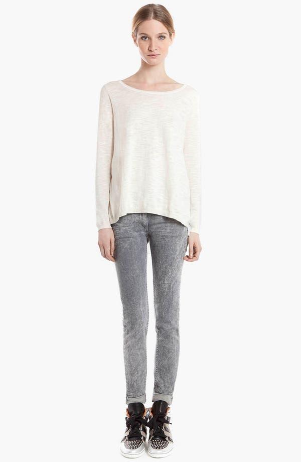 Main Image - sandro 'Supreme' Mixed Media Sweater