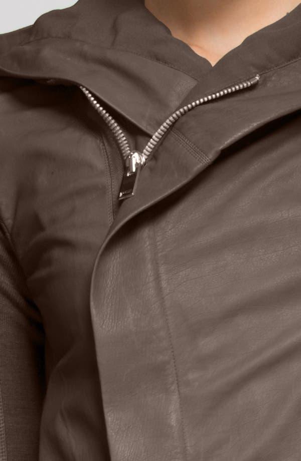 Alternate Image 4  - Rick Owens Hooded Leather Biker Jacket