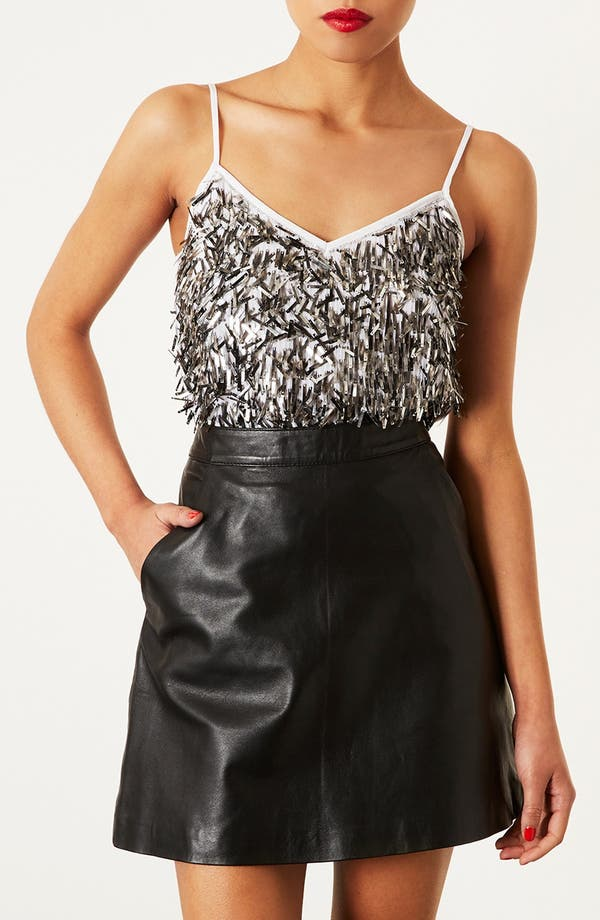 Main Image - Topshop Sequin Camisole