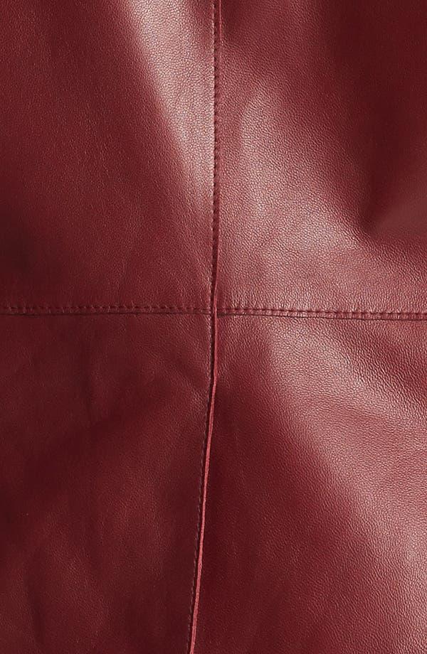 Alternate Image 3  - Lafayette 148 New York Front Zip Leather Jacket (Plus Size)