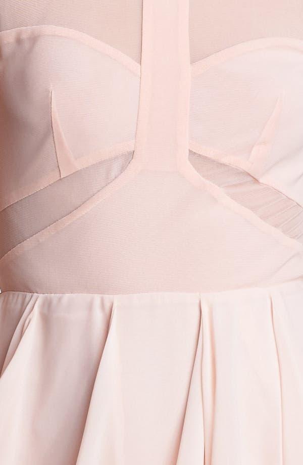 Alternate Image 3  - En Crème Cap Sleeve Corkscrew Dress (Juniors)