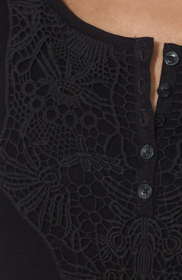 Alternate Image 3  - Lauren Ralph Lauren Embroidered Scoop Neck Dress (Petite)