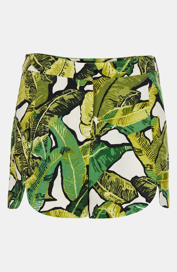 Alternate Image 3  - Topshop Banana Leaf Shorts
