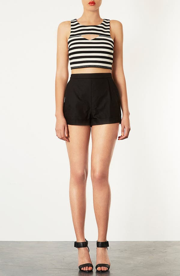 Alternate Image 4  - Topshop Cutout Stripe Crop Top