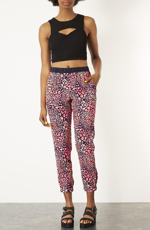 Alternate Image 4  - Topshop Leopard Print Track Pants