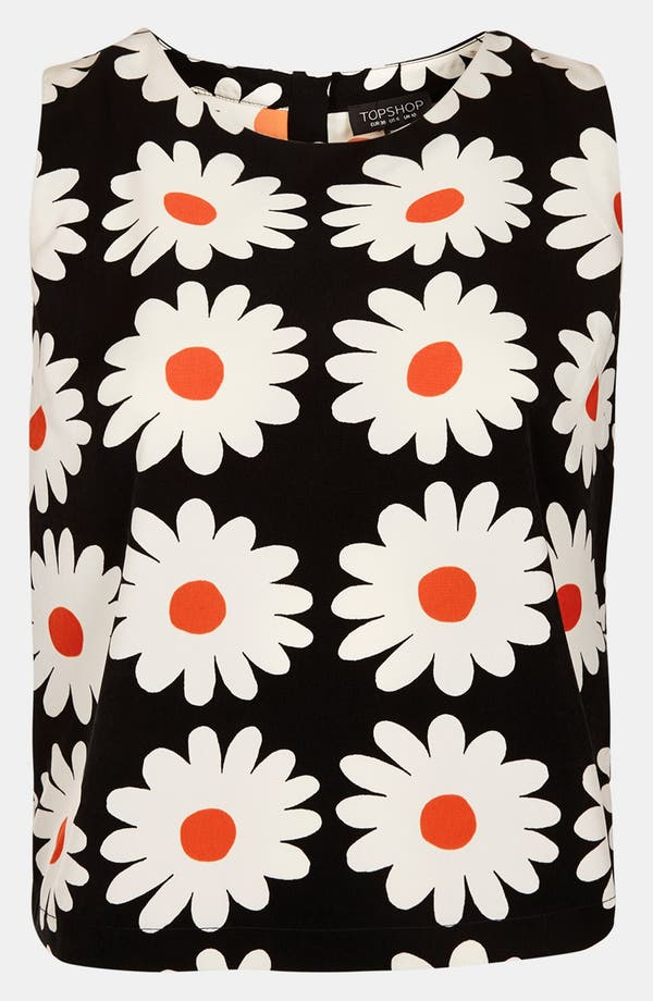 Alternate Image 3  - Topshop Daisy Print Shell