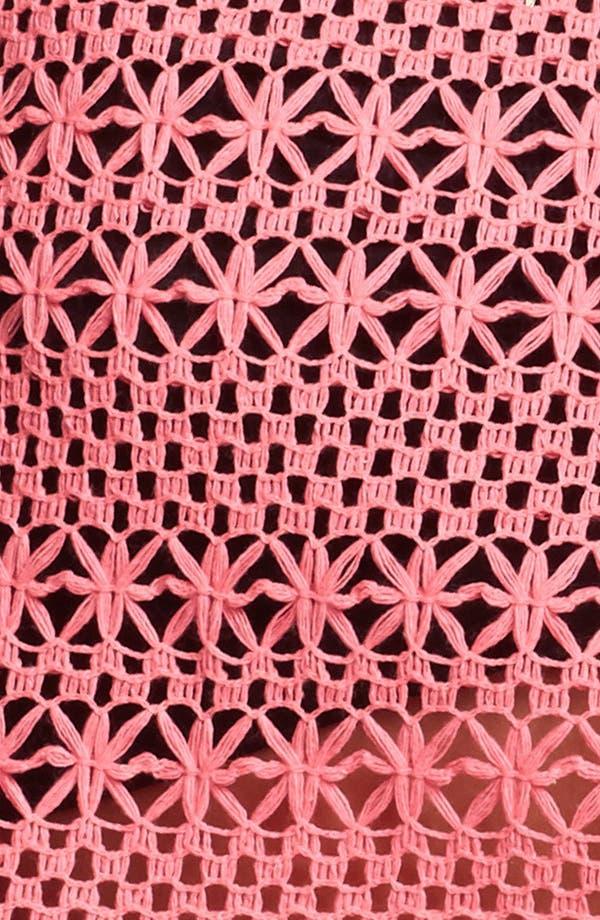 Alternate Image 3  - Painted Threads Crochet Crop Tank (Juniors)