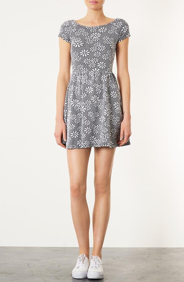 Alternate Image 1 Selected - Topshop Daisy Jacquard Minidress