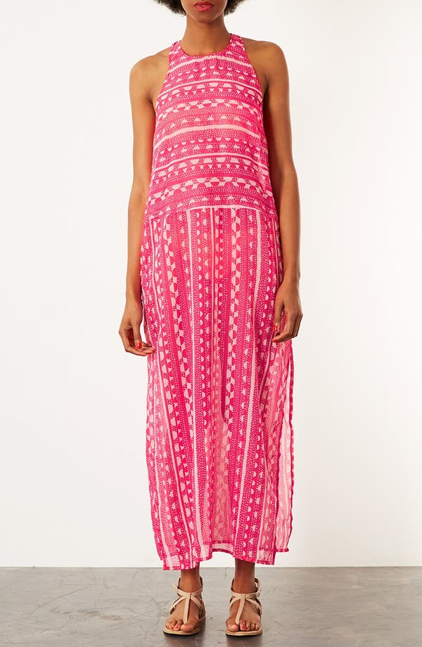 Alternate Image 1 Selected - Topshop 'Sunset' Print Maxi Cover-Up